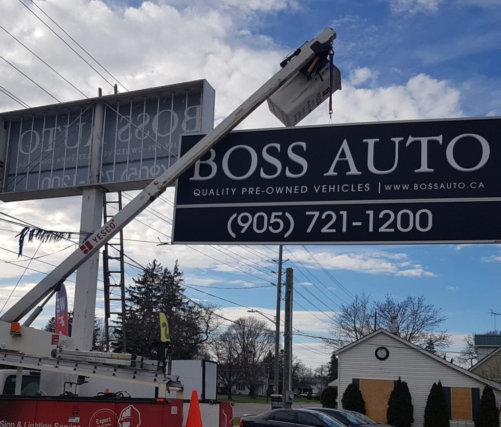 Sign Install